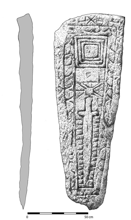 Measured drawing of the graveslab.